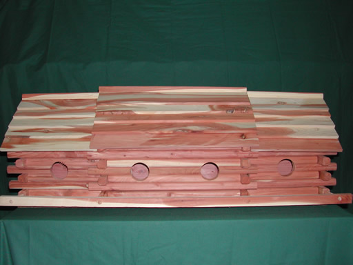 10 Hole Cedar Martin Bird House