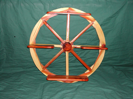 Cedar Wagon Wheel Shelf