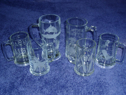 Custom Etched Glasses - price varies