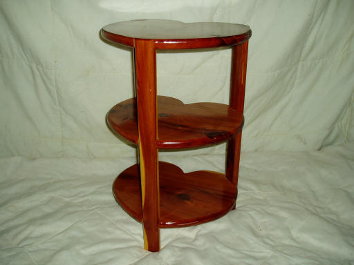 Three Tier Heart End Table