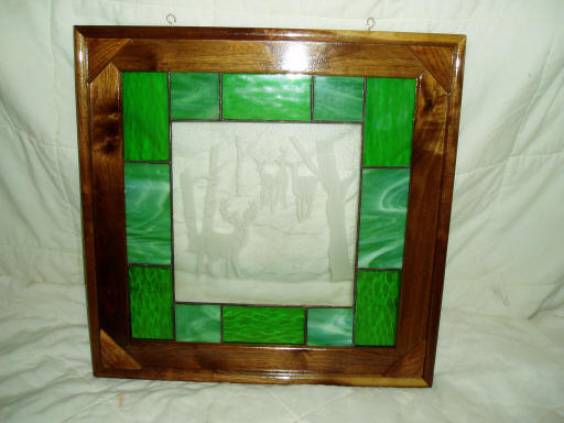 Custom Etched Stained Glass Frame
