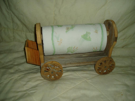 Covered Wagon Paper Towel Holder